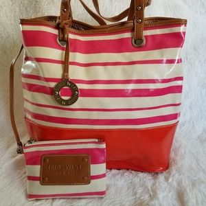 NINE WEST |  Summer Tote and Wristlet